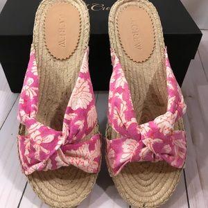 J. Crew Espadrille Sandals NWT pink size 7 w/box